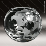 Crystal Clear Windermere Global Bowl Trophy Award Globe Shaped Crystal Awards