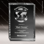 Crystal Clear Drake Global Trophy Award Globe Shaped Crystal Awards