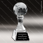 Crystal  Globe Trophy Award Globe Shaped Crystal Awards