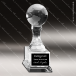 Crystal  Globe On Stem Trophy Award Globe Shaped Crystal Awards