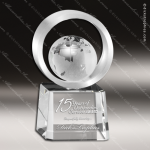 Crystal  Globe Halo Trophy Award Globe Shaped Crystal Awards