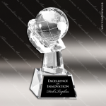 Crystal  Globe In Hand Trophy Award Globe Shaped Crystal Awards