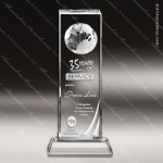 Crystal  Globe Column Trophy Award Globe Shaped Crystal Awards