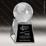 Crystal  Clear Excelsior Globe Trophy Award Globe Shaped Crystal Awards