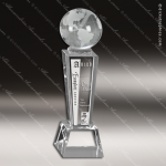 Crystal  Clear Galaxy Globe Trophy Award Globe Shaped Crystal Awards