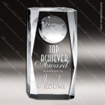 Crystal  Clear Globe Beveled Column Trophy Award Globe Shaped Crystal Awards
