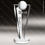 Crystal  Clear Modern Success Globe Trophy Award Globe Shaped Crystal Awards