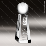 Crystal  Clear Top of the World Globe Trophy Award Globe Shaped Crystal Awards