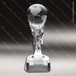 Crystal Athena Globe Trophy Award Globe Shaped Crystal Awards