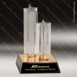 Acrylic Gold Accented Standing Star Columns Award Gold Accented Acrylic Awards