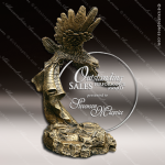 Premium Resin Gold American Eagle Sunset Landing Trophy Award Gold Accented Acrylic Awards