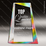 Acrylic Gold Accented Peak Sail Prism-Effect Trophy Award Gold Accented Acrylic Awards