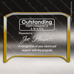 Acrylic Gold Rectangle Crescent Trophy Award Gold Accented Acrylic Awards