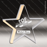 Acrylic Gold Edge Star Trophy Award Gold Accented Acrylic Awards