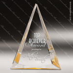 Acrylic Gold Accented Triangle Pinnacle Trophy Award Gold Accented Acrylic Awards