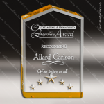Acrylic Gold Peak Star Point Trophy Award Gold Accented Acrylic Awards