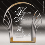 Acrylic Gold Accented Shell Award Gold Accented Acrylic Awards