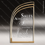 Acrylic Gold Accented Wave Shaped Award Gold Accented Acrylic Awards
