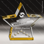 Acrylic Gold Star Performance Trophy Award Gold Accented Acrylic Awards