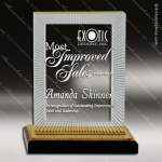 Acrylic Gold Accented Carved Rectangle Impress Trophy Award Gold Accented Acrylic Awards