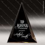 Acrylic Gold Accented Black Triangle Pinnacle Trophy Award Gold Accented Acrylic Awards