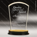 Acrylic Gold Accented Arch Impress Trophy Award Gold Accented Acrylic Awards