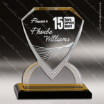 Acrylic Gold Accented Carved Diamond Shield Impress Trophy Award Gold Accented Acrylic Awards