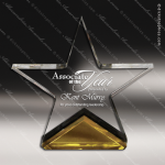 Acrylic Gold Accented Spectra Star Trophy Award Gold Accented Acrylic Awards
