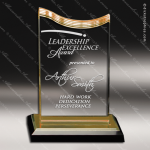 Acrylic Gold Accented Spectra Wave Trophy Award Gold Accented Acrylic Awards