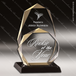 Acrylic Gold Accented Octogon Ultimate Achievement Trophy Award Gold Accented Acrylic Awards