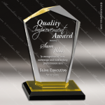 Acrylic Gold Accented Octotop Reflections Trophy Award Gold Accented Acrylic Awards
