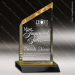 Acrylic Gold Accented Peak Wedge Trophy Award Gold Accented Acrylic Awards