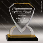 Acrylic Gold Accented Diamond Shield Impress Reflection Trophy Award Gold Accented Acrylic Awards