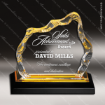 Acrylic Gold Accented Glacier Trophy Award Gold Accented Acrylic Awards