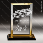 Acrylic Gold Accented Rectangle Reflections Trophy Award Gold Accented Acrylic Awards