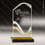 Acrylic Gold Accented Multi Water Wave Trophy Award Gold Accented Acrylic Awards