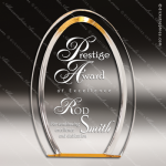 Acrylic Gold Accented Double Halo Arch Oval Trophy Award Gold Accented Acrylic Awards