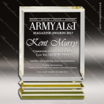 Acrylic Gold Accented Rectangle Trophy Award Gold Accented Acrylic Awards