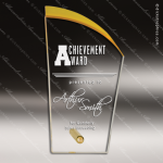 Acrylic Gold Accented Deco Silhouette Award Gold Accented Acrylic Awards
