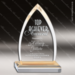 Acrylic Gold Accented Cathedral Arrowhead Peak Trophy Award Gold Accented Acrylic Awards