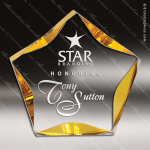 Acrylic Gold Accented Luminary Star Trophy Award Gold Accented Acrylic Awards