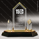 Acrylic Gold Accented Jewel Tower Impress Trophy Award Gold Accented Acrylic Awards