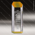 Acrylic Gold Accented Obelisk Hexagon Tower Trophy Award Gold Accented Acrylic Awards