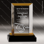 Acrylic Gold Accented Fusion Rectangle Impress Trophy Award Gold Accented Acrylic Awards