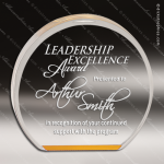 Acrylic Gold Accented Round Circle Award Gold Accented Acrylic Awards