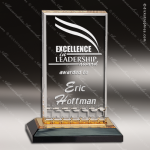 Acrylic Gold Accented Mirage Impress Trophy Award Gold Accented Acrylic Awards
