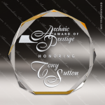 Acrylic Gold Accented Octagon Trophy Award Gold Accented Acrylic Awards