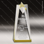 Acrylic Gold Accented Star Tower Trophy Award Gold Accented Acrylic Awards