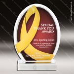 Acrylic Gold Accented Yellow Ribbon Trophy Award Gold Accented Acrylic Awards