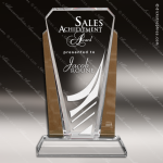 Crystal Gold Accented Bethesda Topaz Trophy Award Gold Accented Crystal Awards